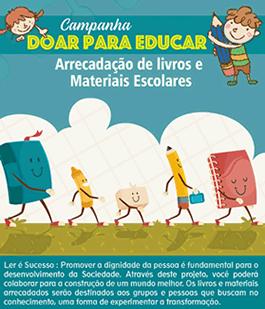 Campanha Arrecadação de livros e materiais escolares