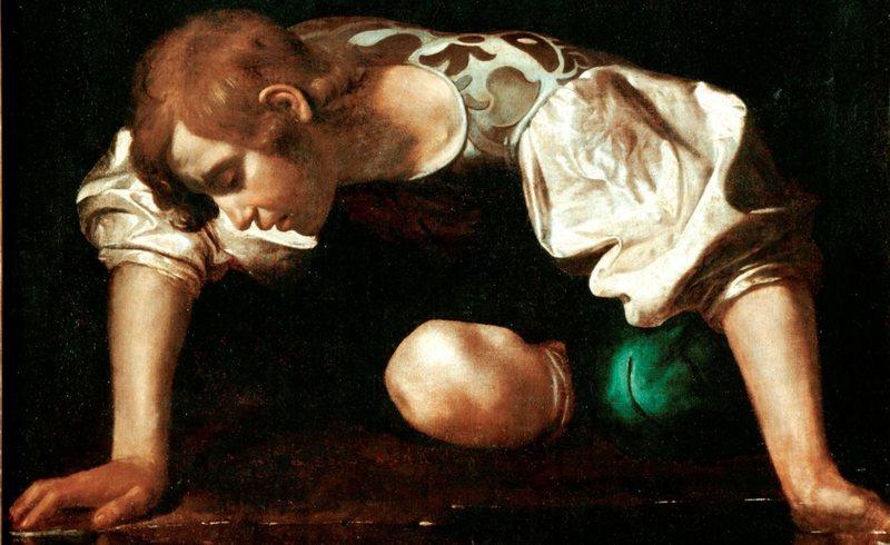 Narciso contemplando seu reflexo